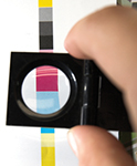 CMYK printing color bar